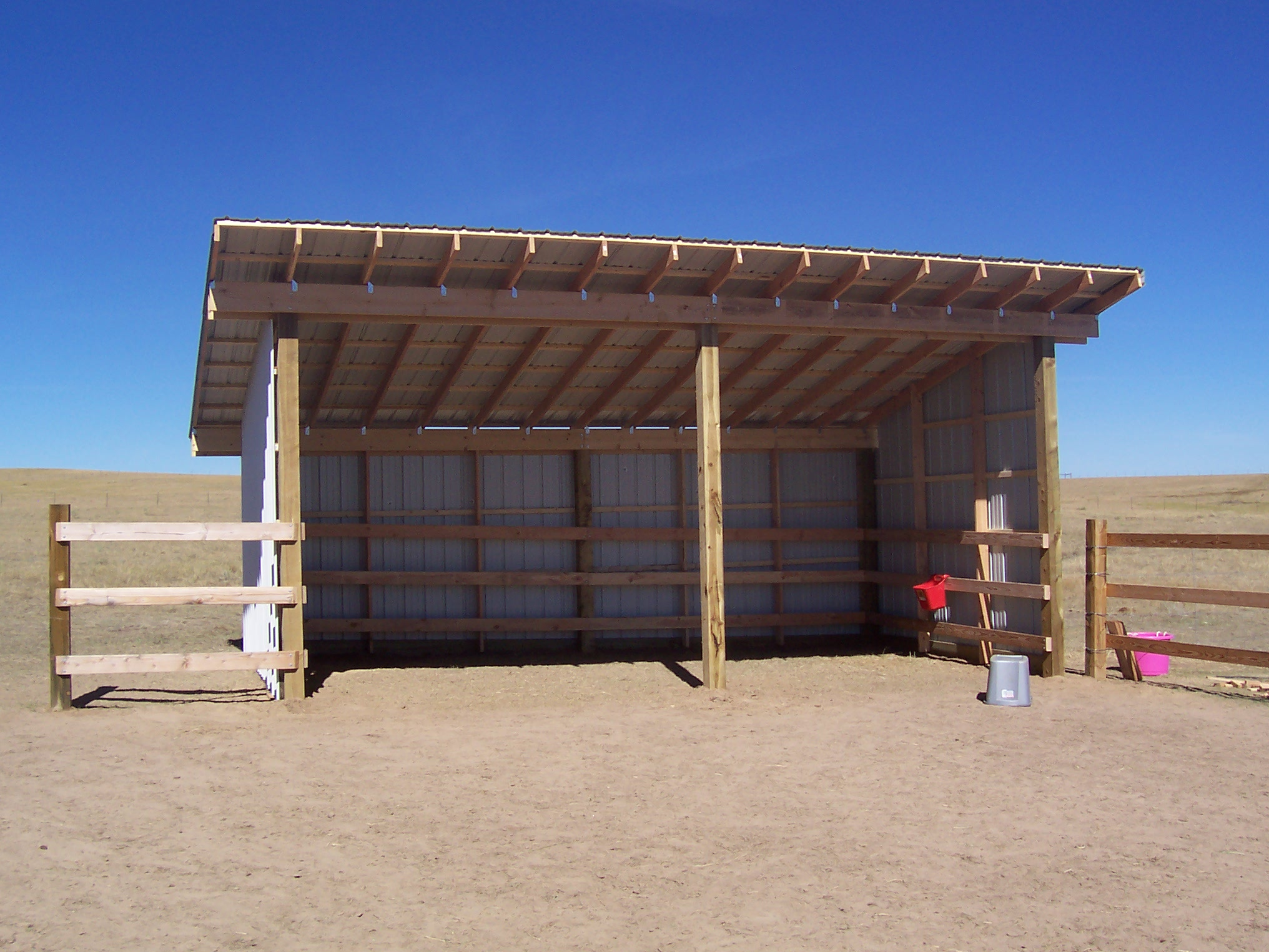 Building a loafing shed for Barn designs for horses